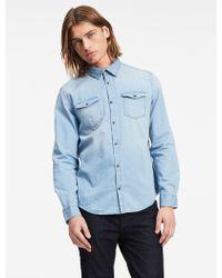 CALVIN KLEIN 205W39NYC - Jeans Classic Fit Indigo Shirt - Lyst