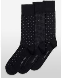 CALVIN KLEIN 205W39NYC - Underwear 3 Pack Mercerized Cotton Novelty Dress Socks - Lyst