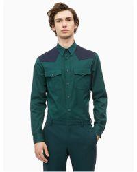 Calvin Klein - Colorblock Western Shirt - Lyst