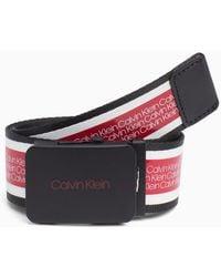 Calvin Klein - Plaque Logo Belt - Lyst