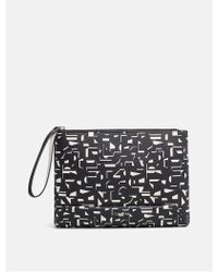 CALVIN KLEIN 205W39NYC - Pebble Printed Pouch Clutch - Lyst