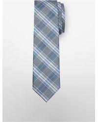 CALVIN KLEIN 205W39NYC - Slim Crystal Plaid Tie - Lyst