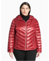 Calvin Klein - Packable Quilted Down Jacket, Red - Lyst