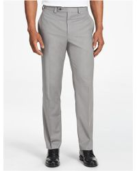 CALVIN KLEIN 205W39NYC - Classic Fit Grey Dress Pants - Lyst