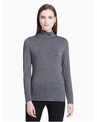 Calvin Klein - Rayon Stretch Turtleneck Sweater - Lyst