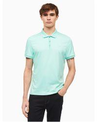Calvin Klein - Classic Fit Solid Liquid Cotton Polo Shirt - Lyst
