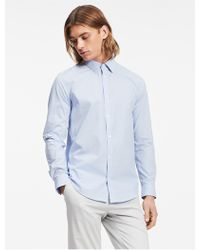 CALVIN KLEIN 205W39NYC - Classic Fit Mini Check Poplin Non-iron Shirt - Lyst