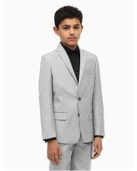 Calvin Klein - Boys Stretch Slub Suit Jacket - Lyst