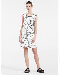CALVIN KLEIN 205W39NYC - Platinum Platinum Smooth Scribble Twill Dress - Lyst