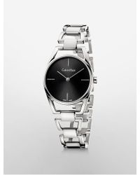 CALVIN KLEIN 205W39NYC - Platinum Dainty Bracelet Watch - Lyst