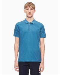 Calvin Klein - Regular Fit Zip Polo Shirt - Lyst
