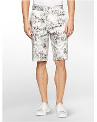 CALVIN KLEIN 205W39NYC - Classic Fit Pixel Grid Shorts - Lyst
