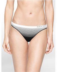 Calvin Klein | Underwear Seamless Illusions Stripe Print Thong | Lyst