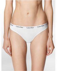 CALVIN KLEIN 205W39NYC - Underwear Logo Cotton Bikini - Lyst