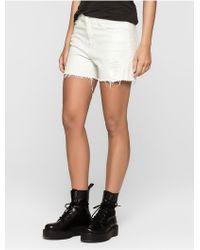 Calvin Klein | Jeans Cut-off Denim Shorts | Lyst
