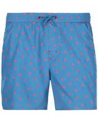 939ce7d530 Calzedonia Panama Side Band Swim Shorts in Red for Men - Lyst