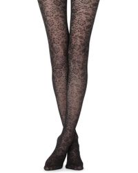 bb3acc977b7f0 Calzedonia Animal-patterned Tights in Yellow - Lyst