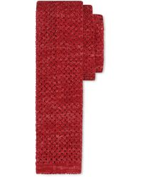 Canali - Red Silk-linen Knit Tie With Polka Dots - Lyst