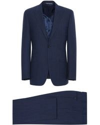 Canali - Navy Blue Impeccabile Wool Pinstripe Milano Suit - Lyst