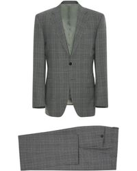Canali - Dark Gray Impeccabile Wool Prince Of Wales Check Siena Suit - Lyst