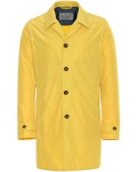 Canali - Yellow Water-repellent Raincoat - Lyst