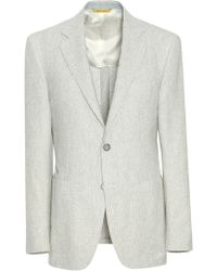 Canali - Light Gray Cotton-wool-linen Kei Blazer - Lyst