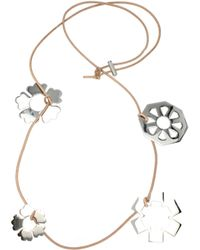 Tory Burch - Necklaces Women Silver - Lyst