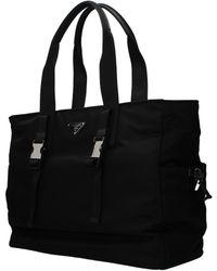 7e1a89e0e8a2d3 Prada Nylon Weekender Bag in Black for Men - Lyst