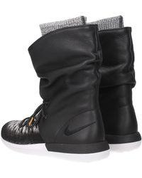 04d7ab64348d Nike - Trainers W Roshe Two Hi Flyknit Women Black - Lyst