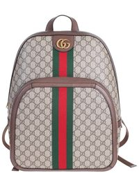 9e5019aa24b Gucci - Gg Supreme Ophidia Backpack With Green And Red Web Ribbon And  Double G -