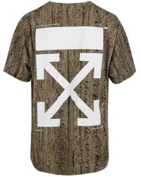 Off-White c/o Virgil Abloh - Camouflage Oversized T-shirt - Lyst