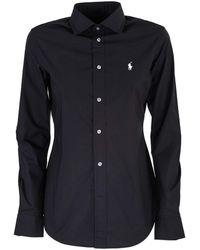 Ralph Lauren - Black Cotton Shirt - Lyst