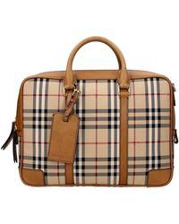 Burberry Work Bags Men Brown