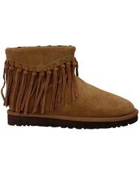 fade5975ef4 UGG Wynona Fringe Boots in Black - Lyst