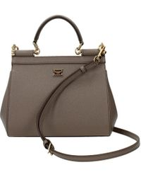 Dolce & Gabbana - Handbags Sicily Women Grey - Lyst