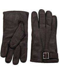 Prada - Gloves Women Brown - Lyst