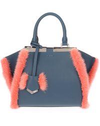 Fendi - Handbags 3jours Mini Women Blue - Lyst