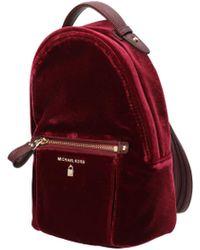 3d5f9b2d3b26 Michael Kors Kelsey Large Leopard Nylon Backpack in Blue - Lyst