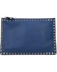 Valentino - Clutches Women Blue - Lyst