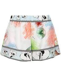 Genny - Marine Print Shorts - Lyst