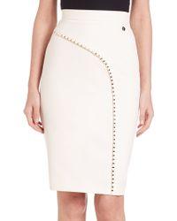 Versace   Studded Pencil Skirt   Lyst