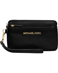 Michael Kors Michael Bedford Medium Wristlet black - Lyst