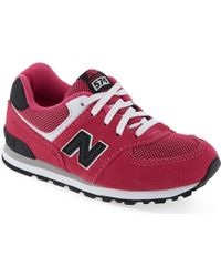 New Balance Girls Lace-up Trainers - Lyst