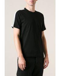 Comme Des Garçons Black T-shirt with Grey Panels - Lyst