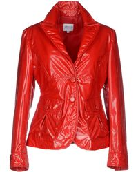 Armani Jacket red - Lyst