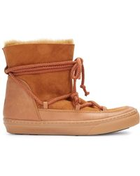 Ikkii - Sienna Shearling Lined Leather Boots - Lyst