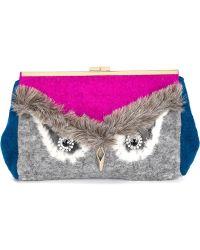MUVEIL - Owl Clutch - Lyst