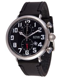 Ritmo Mundo - Chronograph Leather Strap Watch - Lyst