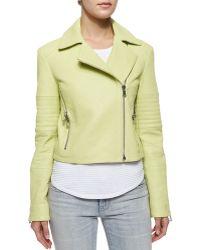 J Brand Aiah Zip-Detail Leather Jacket - Lyst