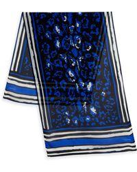 Roberto Cavalli | Drop Jaguar-print Silk Scarf | Lyst